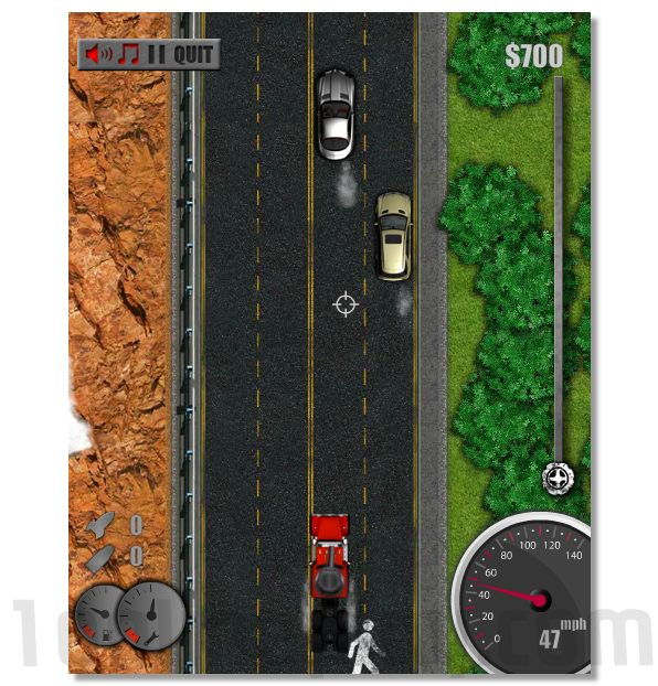 Mad Trucker 3 agressive road rage truck racing game image play free