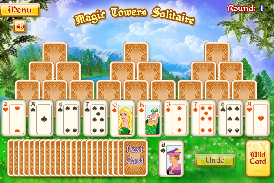 Magic Tower Solitaire free colorful card game image play free
