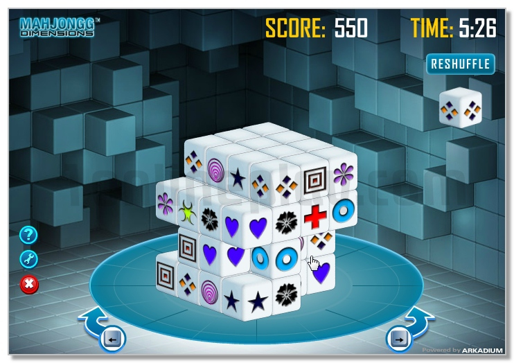 Mahjongg Dimensions free 3D mahjongs online game image play free