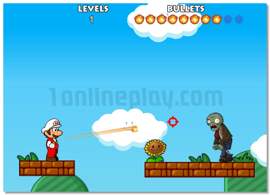 Mario Shoot Zombies arcade game image play free