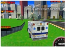 3D Extreme Rescue - drive on the ambulance car through the City