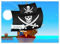Angry Pirates ballistic game shoot your enemy