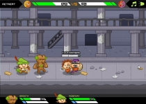Awesome Happy Heroes strategy game manage your own superhero