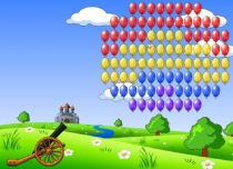 Balloons Hunter hit colored balls ballistic game