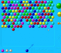 Bubble shooter classic retro game aim and shoot balls