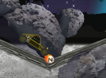 Buggy Space Race space racing on asteroid driving game play free