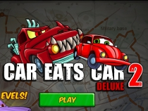 Car Eats Car 2 deluxe run drive your small car and earn some money play free