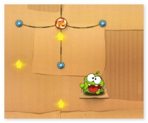 Cut the Rope Om Nom game funny ballistic logical game