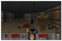 Doom 1 first person shooter retro online game