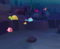 Fish eat fish game for 2 player for 3 player of for 1 player play free