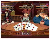 Good Old Poker online card game wild west style poker