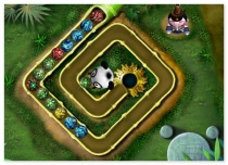 Kung Fu Zuma play zuma game with the Panda