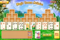 Magic Tower Solitaire free colorful card game