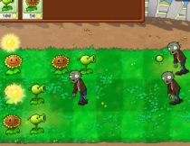Plants vs. Zombies survive defense quest plants shoot zombie