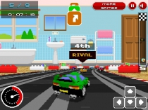 Retro Racers 3D annular driving game mini cars