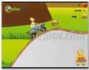 Simpsons Starving Rush Moto Racing