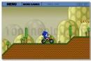 Super Sonic in Super Mario Land adventure moto racing game
