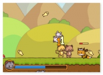 StrikeForce Kitty funny adventure game with lot of cats and evil foxes play free