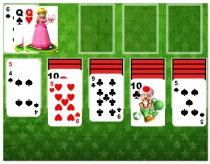 Super Mario Solitaire card game like Free Cell game