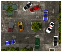 Tropical Police Parking car parking game