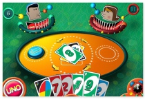 UNO card game with two opponents multiplayer card game