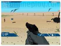 Weapon shooter on the beach shooting game like Day-D