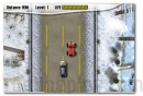 Winter Pursuit racing game car on the icy road