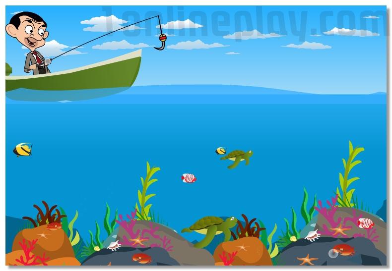 Mr Bean Fishing funny mini game fishing simulator image play free