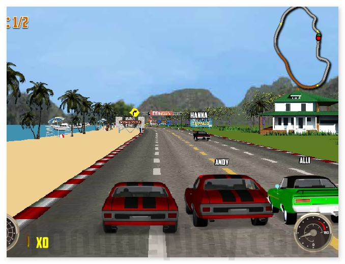 V8 Muscle Cars 3 NASCAR like annular racing game image play free