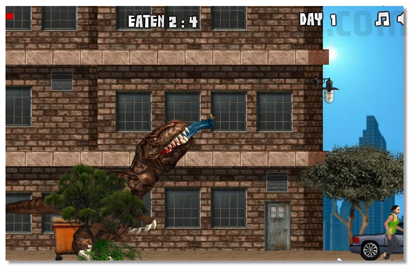 New York Rex destroy NY eat people really action horror game image play free
