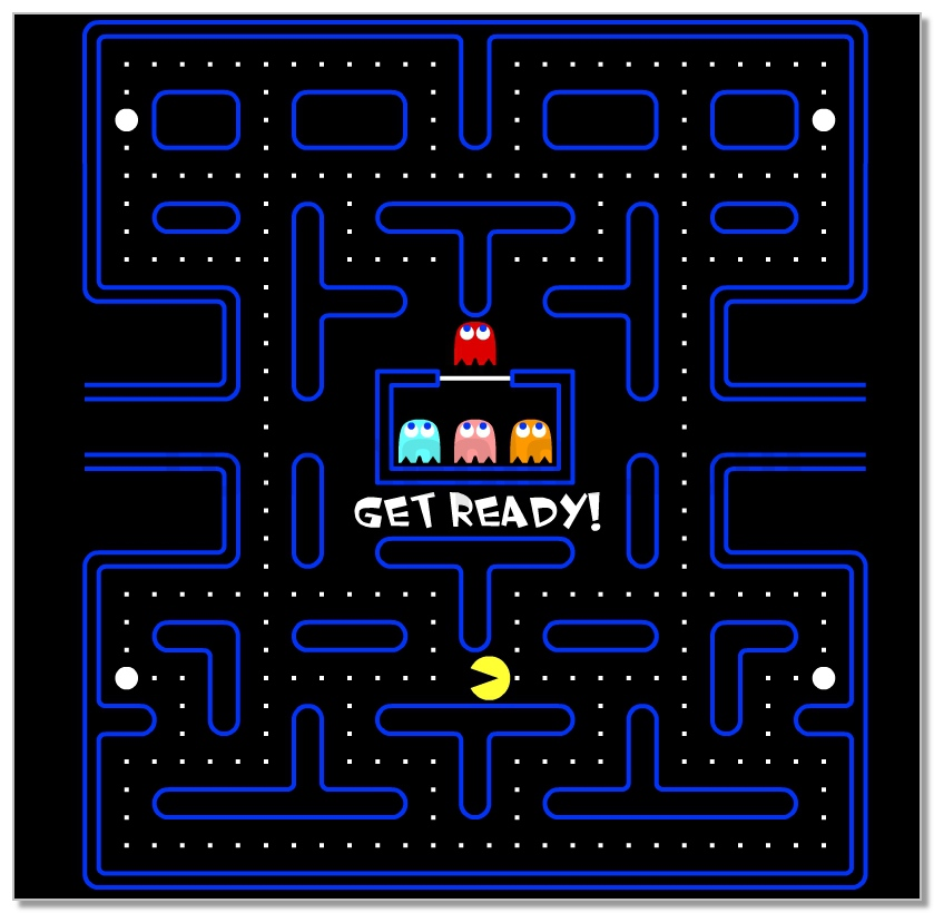 Pac-man mini retro game hit image play free