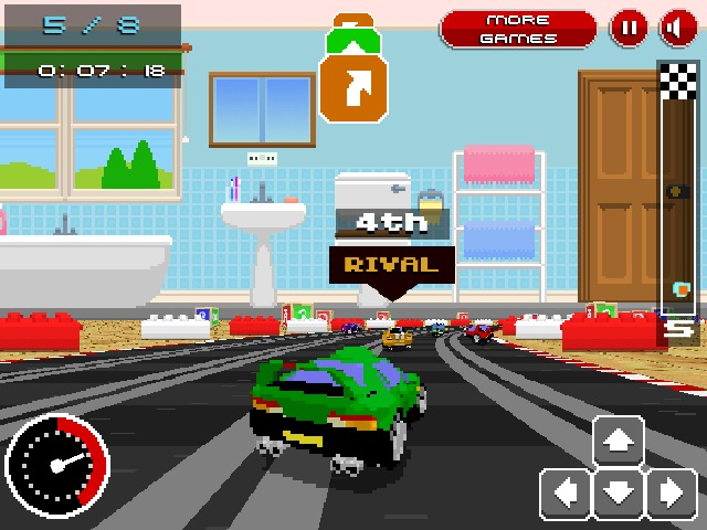 Retro Racers 3D annular driving game mini cars image play free