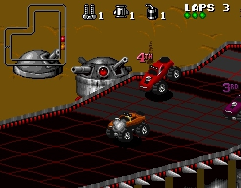 Rock N Roll Racing SEGA retro driving car game anothe planets out space alien drivers image play free