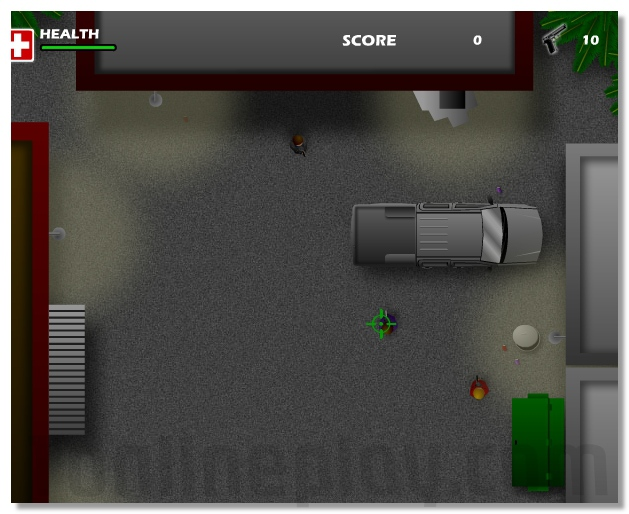 Runaway Top-view shooter and racing in one game image play free
