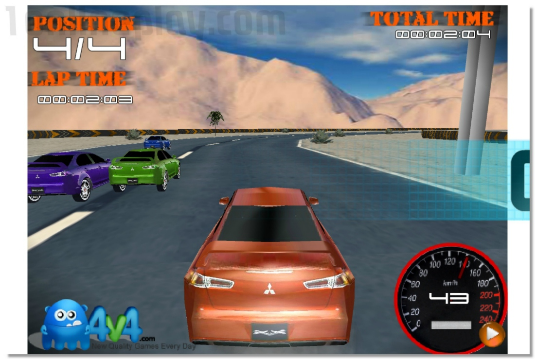 Sandy Speedway 3D racing driving game image play free