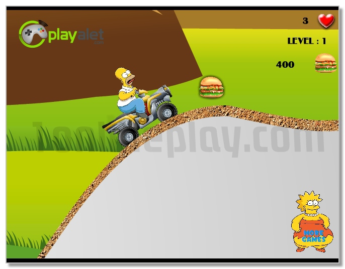 Simpsons Starving Rush Moto Racing image play free