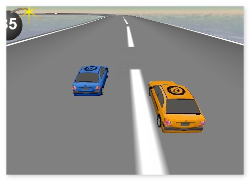 Sky Driver Extreme car racing game for 1 or 2 players image play free