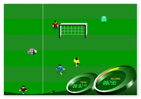 Soccer Rush online football game sport game hit the ball image play free