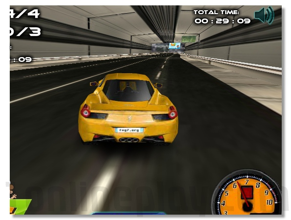 Speed and snow racing winter game drive car through snow image play free