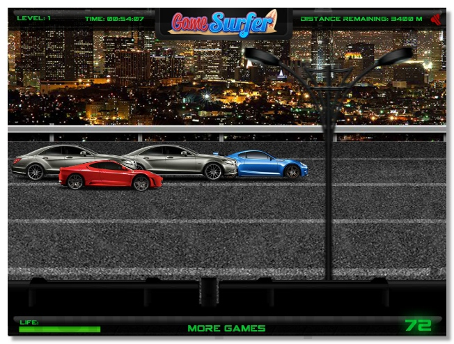 Speed Racer car racing game one way from the left to the right image play free