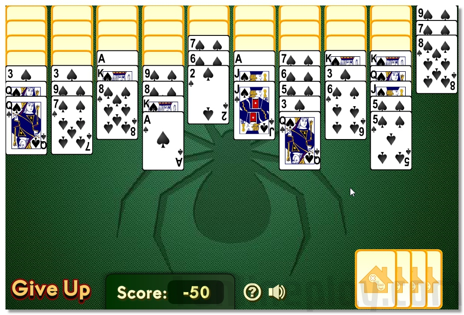 Spider Solitaire free online cards game image play free
