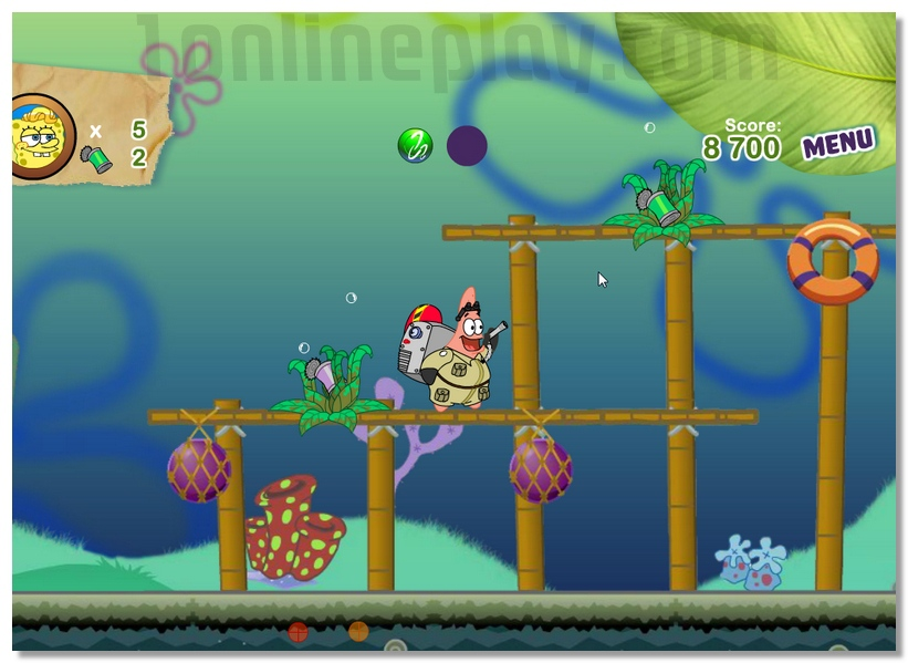 Sponge Bob and Patrick Dirty Bubble Busters games image play free