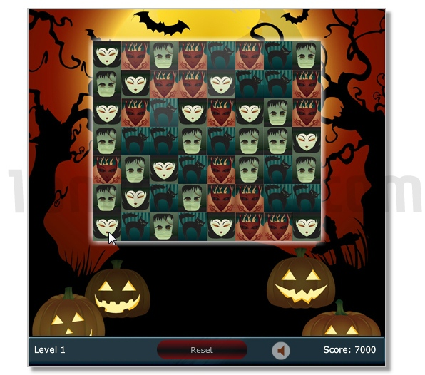 Spooky Adventures Halloween puzzle game 3 match image play free