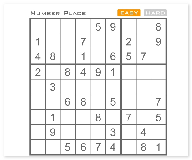 Sudoku Number Place cool math puzzle game image play free