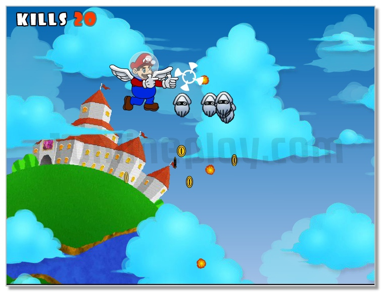Super Mario Sky Shooter image play free