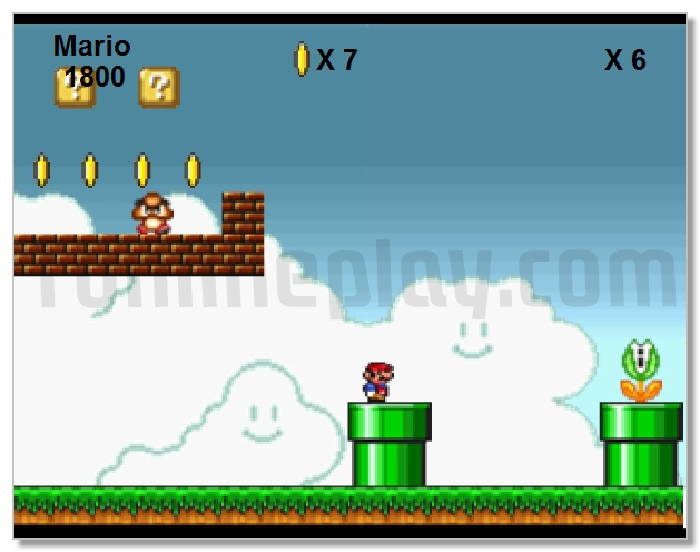 Super Mario Flash adventure retro game image play free