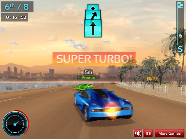Supercar 2 Road Trip 3D online annular racing image play free