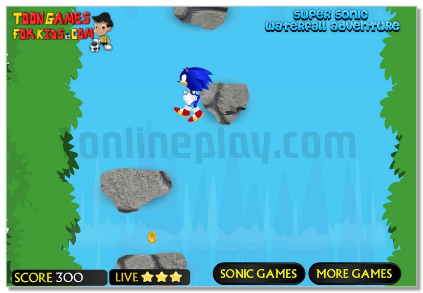 SuperSonic Waterfall Adventure image play free