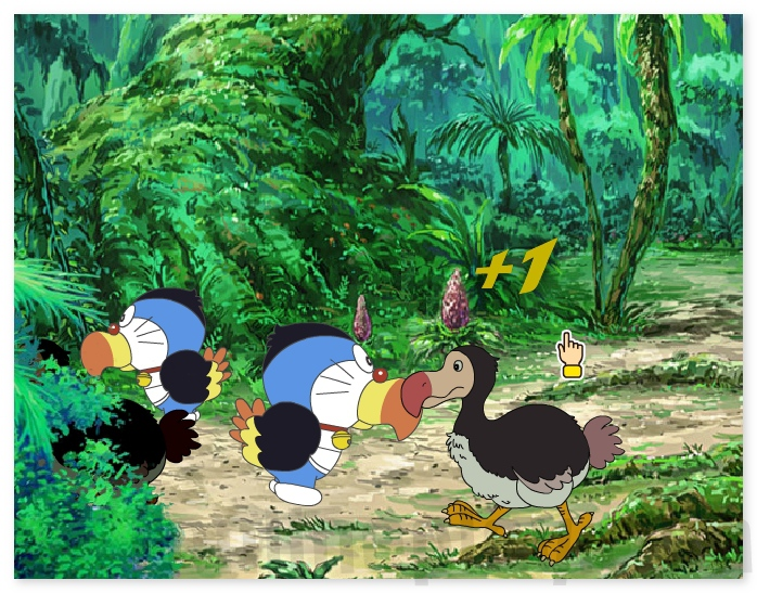 The Doraemon Adventures catch all birds on the island image play free
