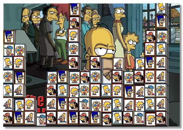 Tiles Of The Simpsons free 2 connect puzzle game image play free